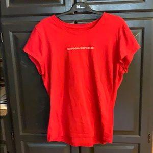 Women's Banana Republic red T-shirt size XL